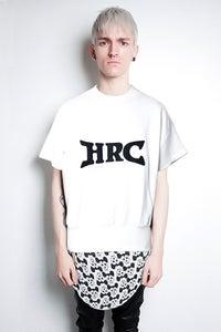 Image of HRC White Short Sleeve Sweatshirt