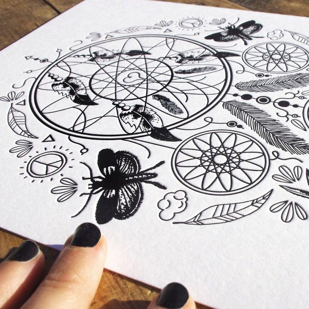 """Image of Illustration """"Attrapeur de rêve / Dreamcatcher"""""""