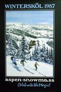 Image of 1987 Aspen Snowmass Winterskol Vintage Poster