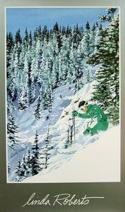 Image of Linda Roberts Ski Poster