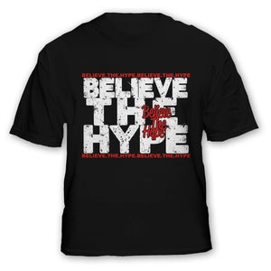 Image of Hype on Hype (red on black)