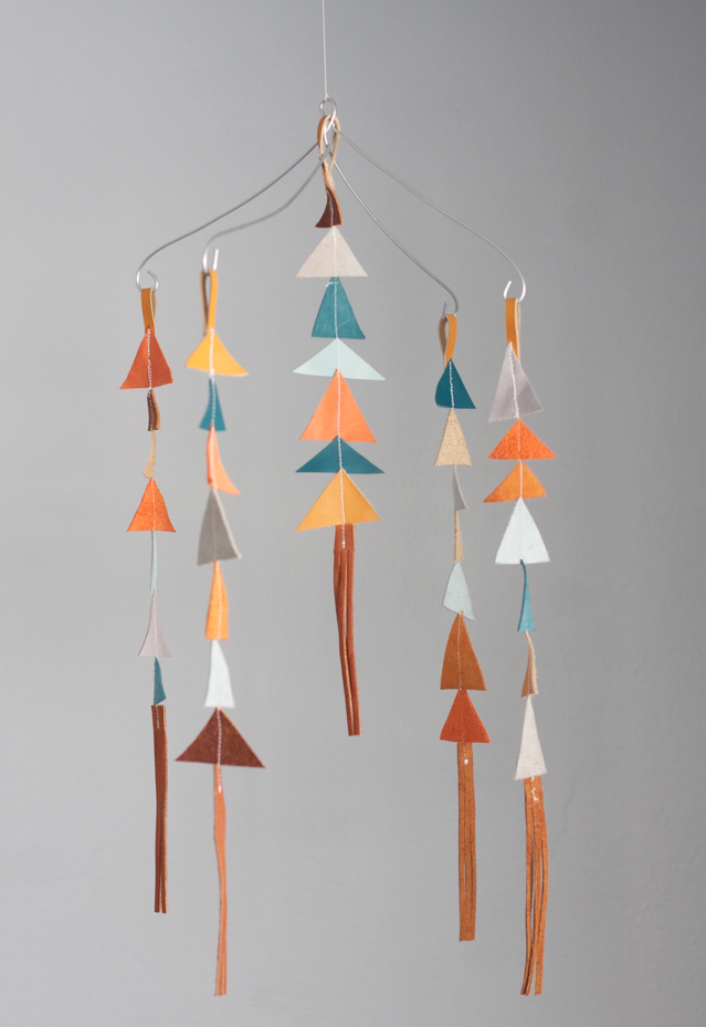 Image of The Leather Triangle Mobile in Baldwin