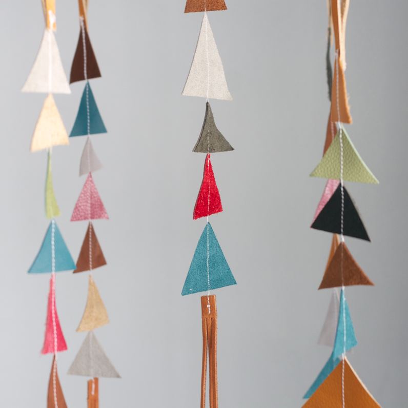 Image of The Leather Triangle Mobile in Atticus