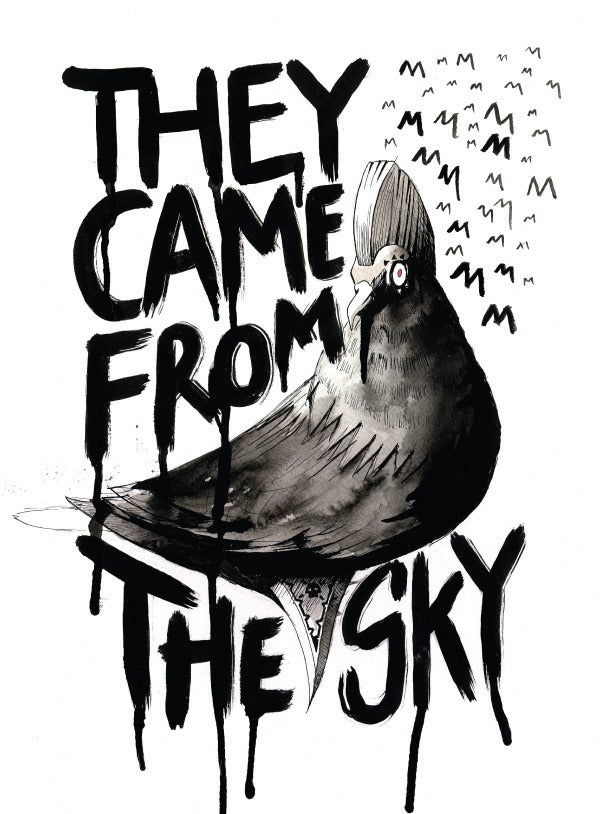 Image of THEY CAME FROM THE SKY A3 PRINT