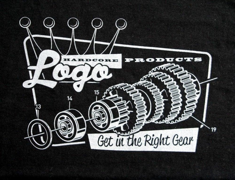 Image of Hardcore Logo Gear Logo Mens T-Shirt