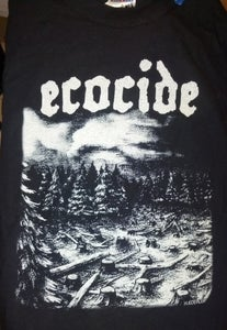 "Image of Ecocide ""When Will It End, LP cover"" T-Shirt"