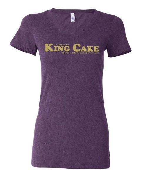 """Image of """"King Cake"""" Ladies Tri-Blend"""