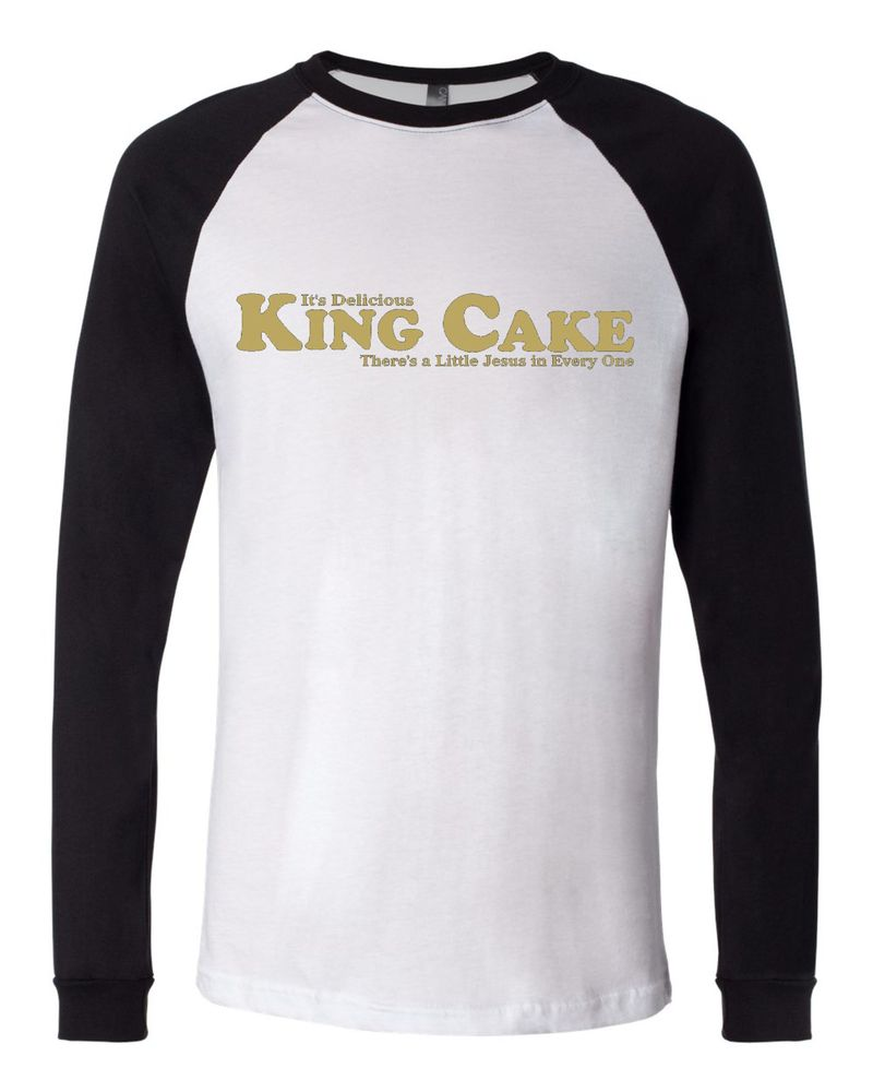 "Image of ""King Cake"" Baseball Jersey Tee"