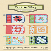 Image of Happy-go-lucky Oven Mitts Paper Pattern #958