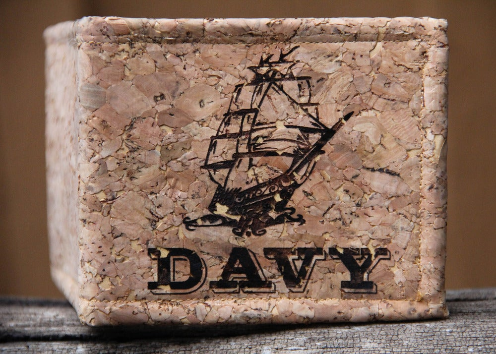 Image of Personalized Handmade Cork Wallet