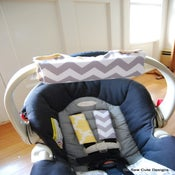 Image of NEW DESIGN--Car Seat Strap Covers and Handle Arm Pad with Hand Grip-You Choose Fabric