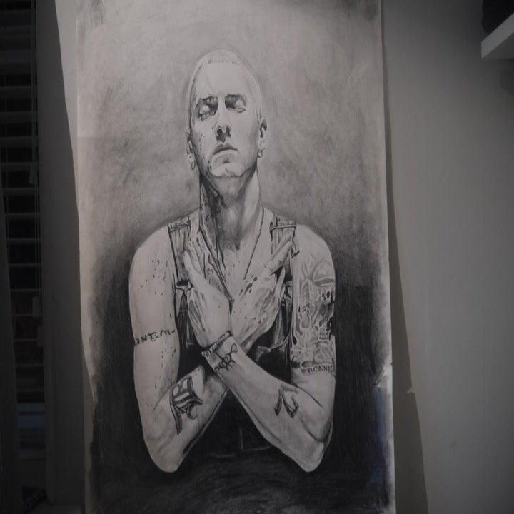 Pencil Drawings Of Eminem Original pencil drawing!