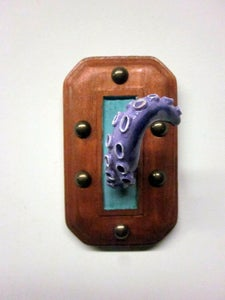 Image of Pastel Purple Tentacle wall piece/jewelry holder
