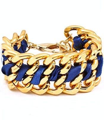 Image of Blue and Gold Bracelet