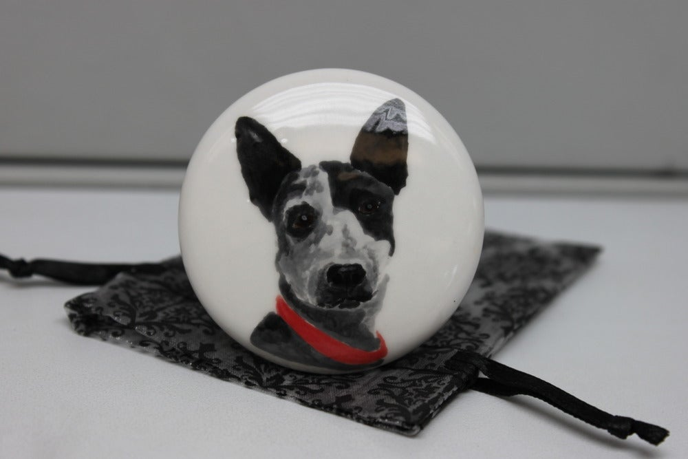 Image of Custom Pet Portrait Wine Stopper