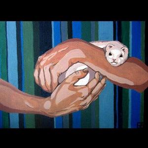 Image of Custom Pet Portrait, Large size