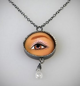 Image of Margaux Lange Brown Eye Necklace