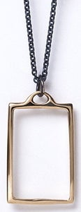 Image of rectangle necklace