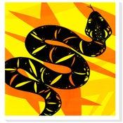 Image of Audacious Asp Silkscreen print