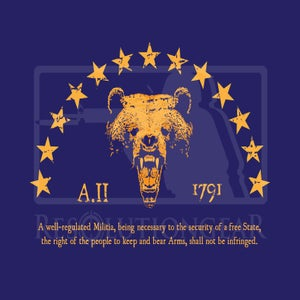 "Image of ""Right To Bear Arms"" Short Sleeve Tee, Navy"