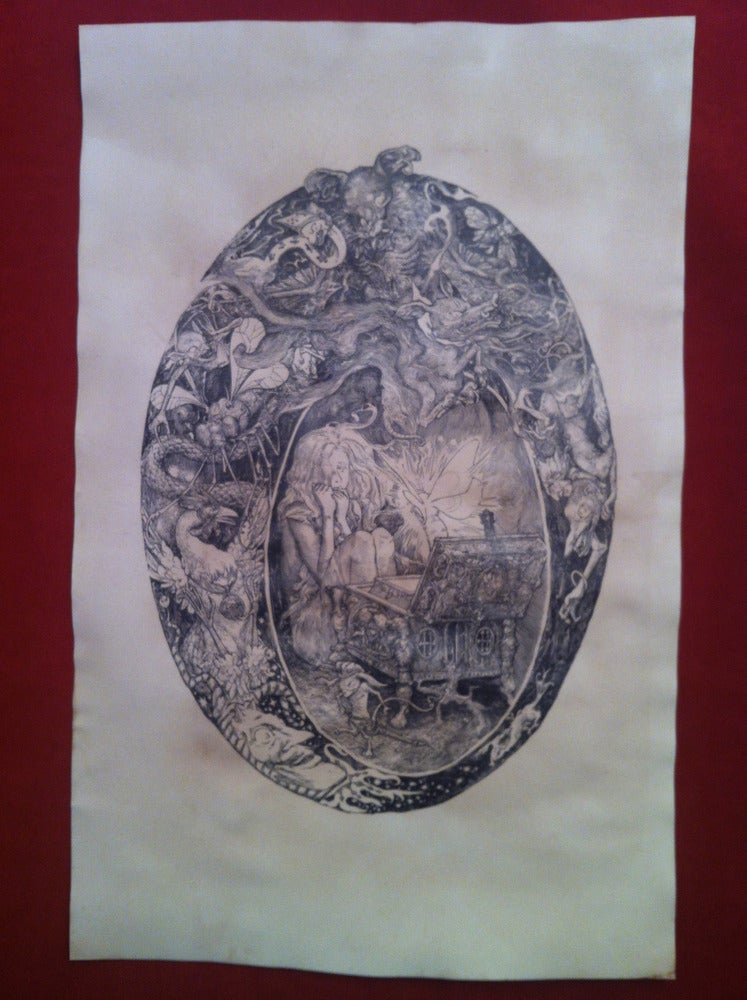 Image of Pandora -hand stained print