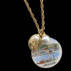 """Image of """"A Day in Marseille"""" Rescued Jewelry Necklace"""
