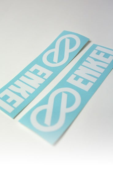 "Image of WHITE or SILVER 9"" DECALS (X2)"
