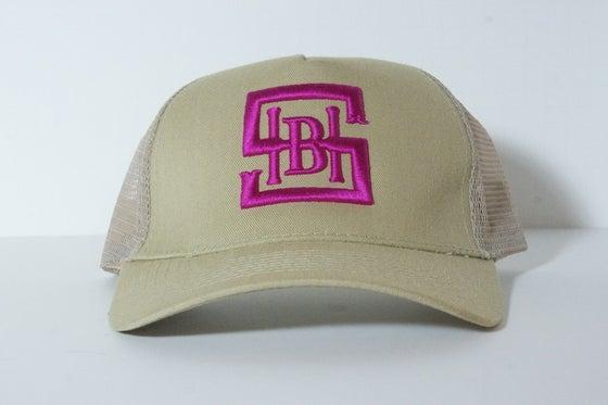Image of Tan & Pink Snapback