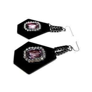Image of EXCLUSIVE Hexagon Gem Earrings