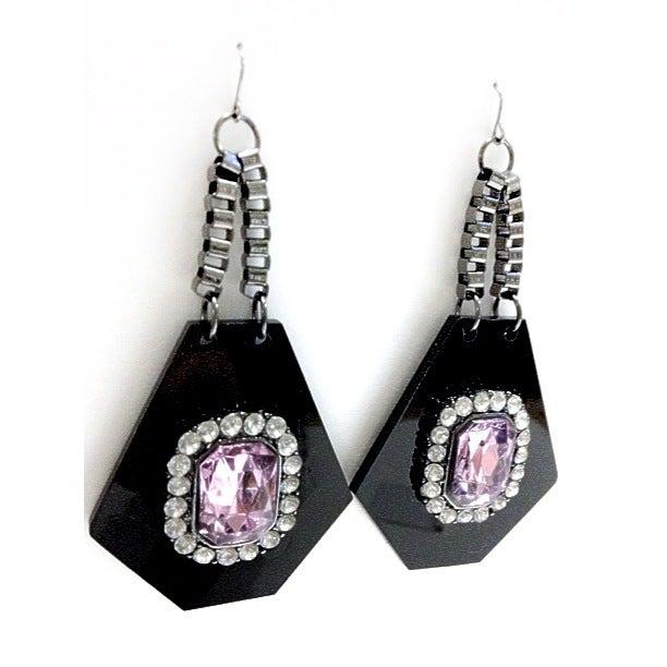 Image of EXCLUSIVE Hexagon Gem Earrings