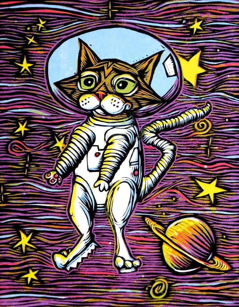 Image of Catstronaut Print