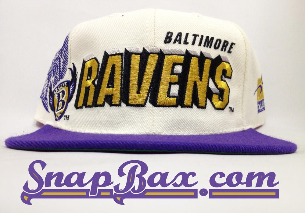 Image of Vintage Deadstock Baltimore Ravens Sports Specialties Shadow Snapback Hat Cap