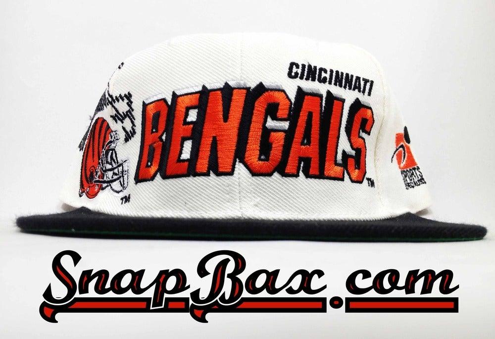 Image of Vintage Deadstock Cincinnati Bengals Sports Specialties Shadow Snapback Hat Cap