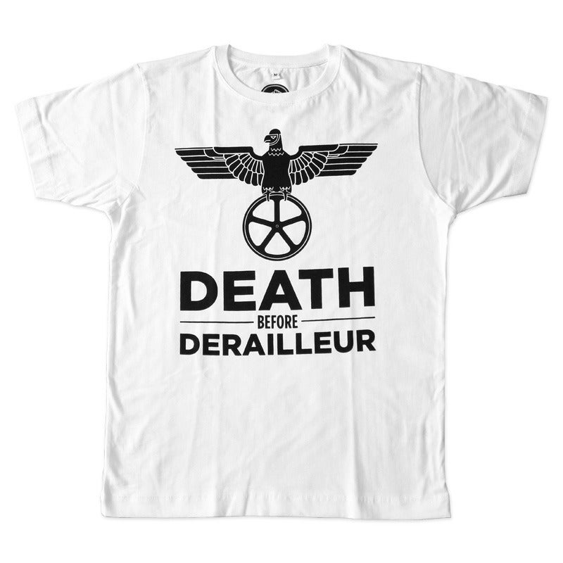 Image of Death Before Derailleur T-Shirt - White