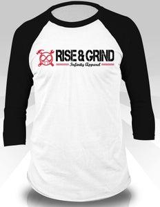 Image of Rise & Grind Baseball Tee (Black)
