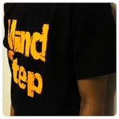 Image of MindStep Tee (Black/Neon Orange Logo)