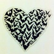 Image of Haunted 'bat-heart' sticker