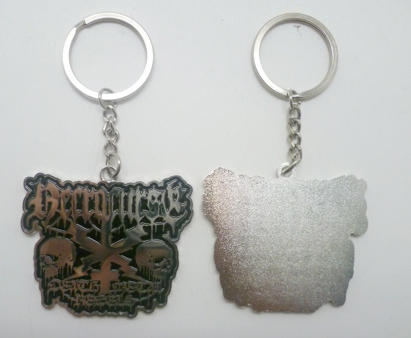 "Image of NECROCURSE ""Death Metal Rebels"" Metal Keychain"