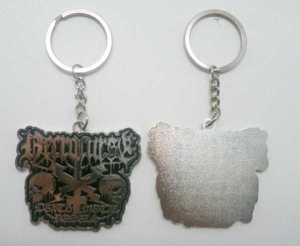 "Image of NECROCURSE ""Death Metal Rebels"" Metal Keychain"