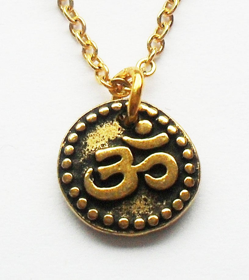 "Image of OM ""Aum"" Charm Necklace"