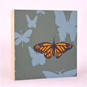 Image of Green Grey with Butterflies 7 x 7