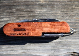 "Image of Personalized 3.5"" Wood Pocketknife"