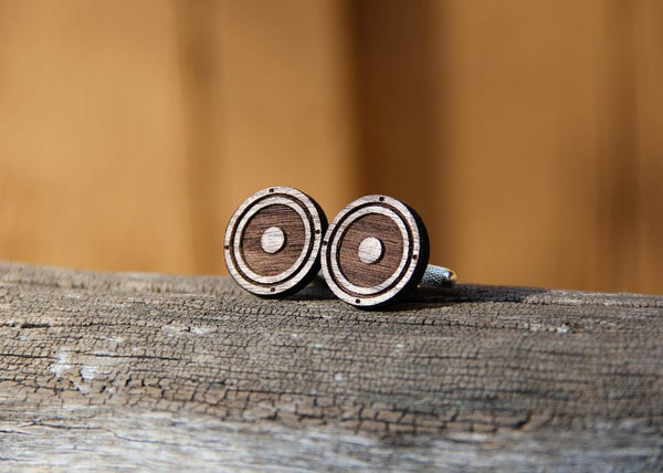 Image of Wood Speaker Cone Cufflinks
