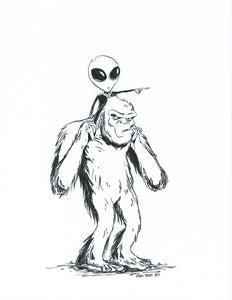 Image of Paranormal Buddies (original ink art)