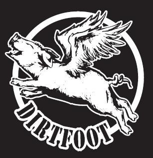 Image of  Dirtfoot - Flying Pig T - Black w/White Print - Remnant Sale