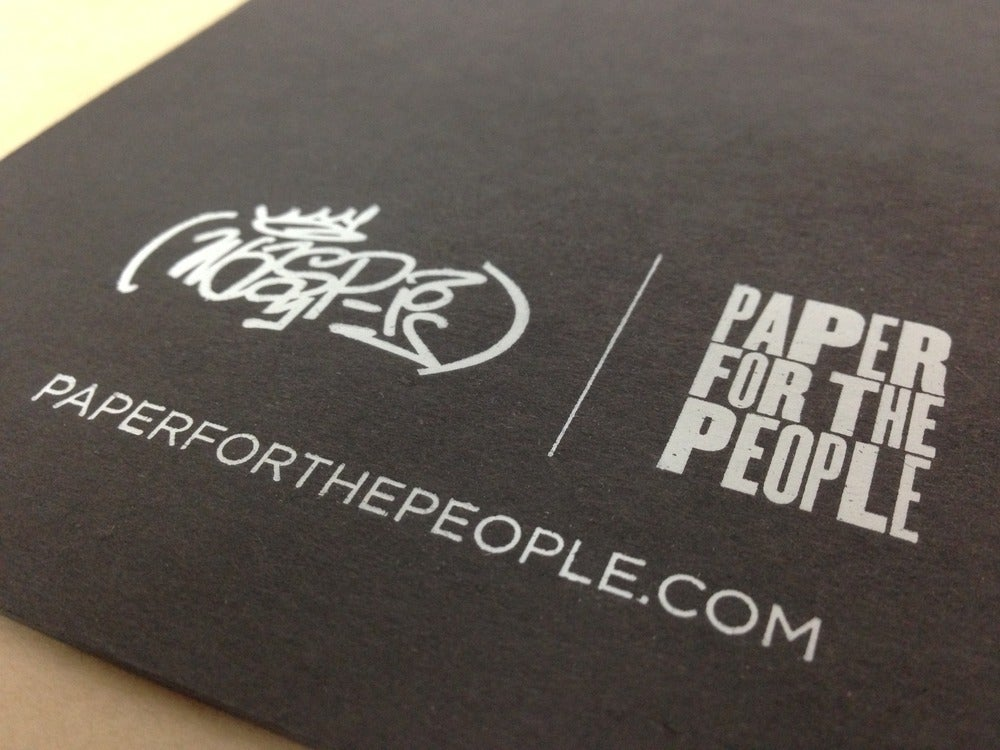 Image of SMALL Wasp-1 Graffiti Black Book - Email info@paperforthepeople.com for sample sheets.
