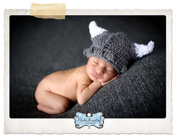 Image of Newborn Viking Hat