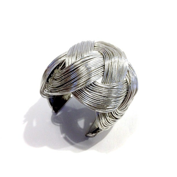 Image of Exclusive Wide Silver Plait Cuff In The Style Of Laura Cunningham #Girlfri3nds