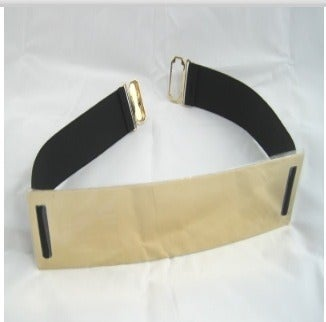 Image of Gold Metal Plate Belt