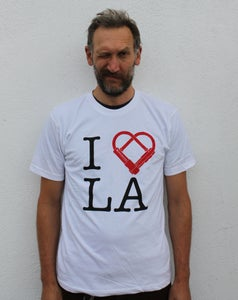 Image of I U-Lock LA Tee - White